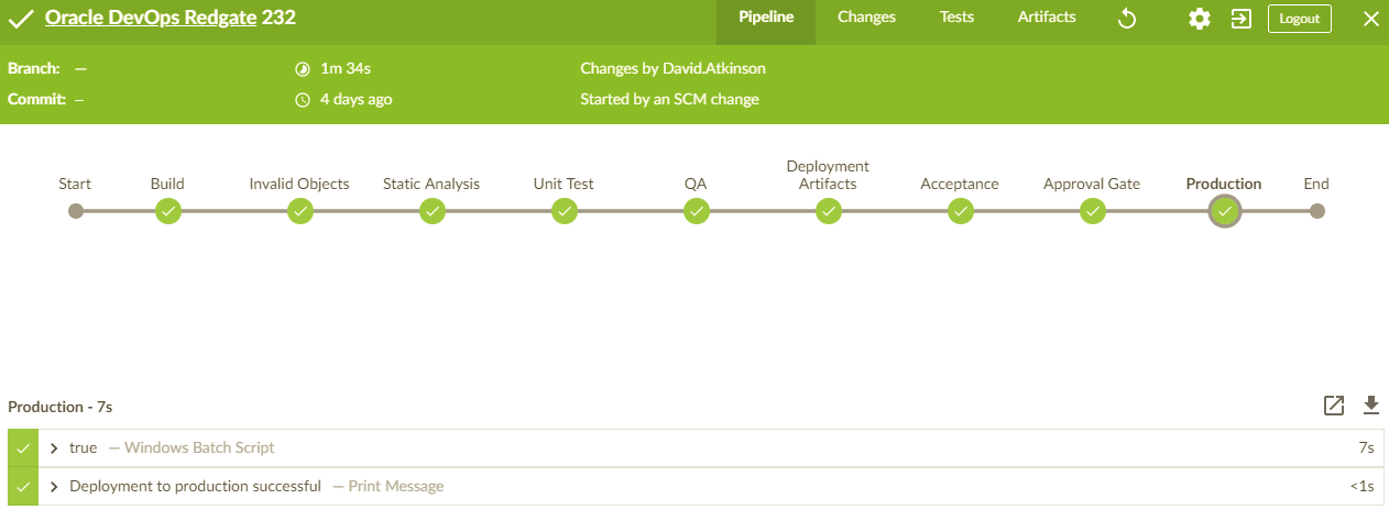 Jenkinsfile pipeline as code - Database DevOps for Oracle - Product