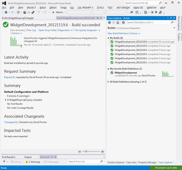 Using the TFS MSBuild scripts - SQL CI - Product Documentation