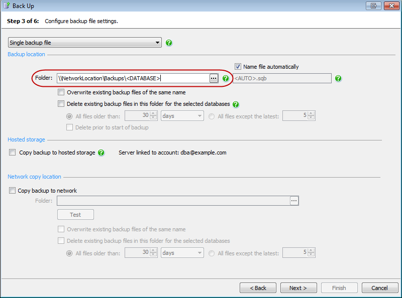 Backing up and restoring on a network share - SQL Backup 9 - Product