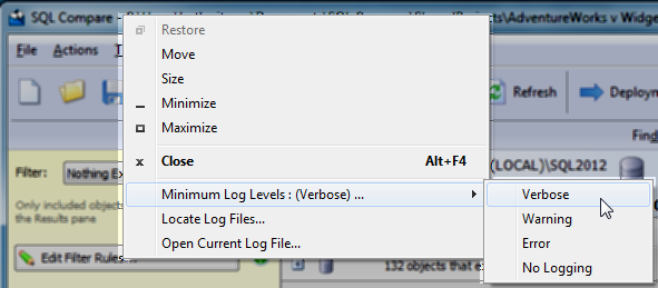 Logging and log files - SQL Compare 9 - Product Documentation